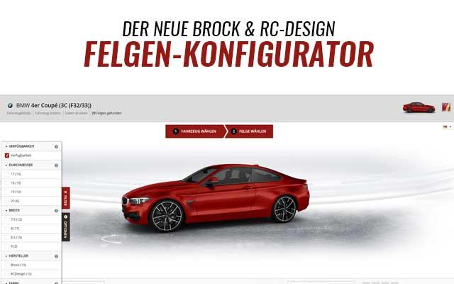 Brock und RC Felgen Konfigurator