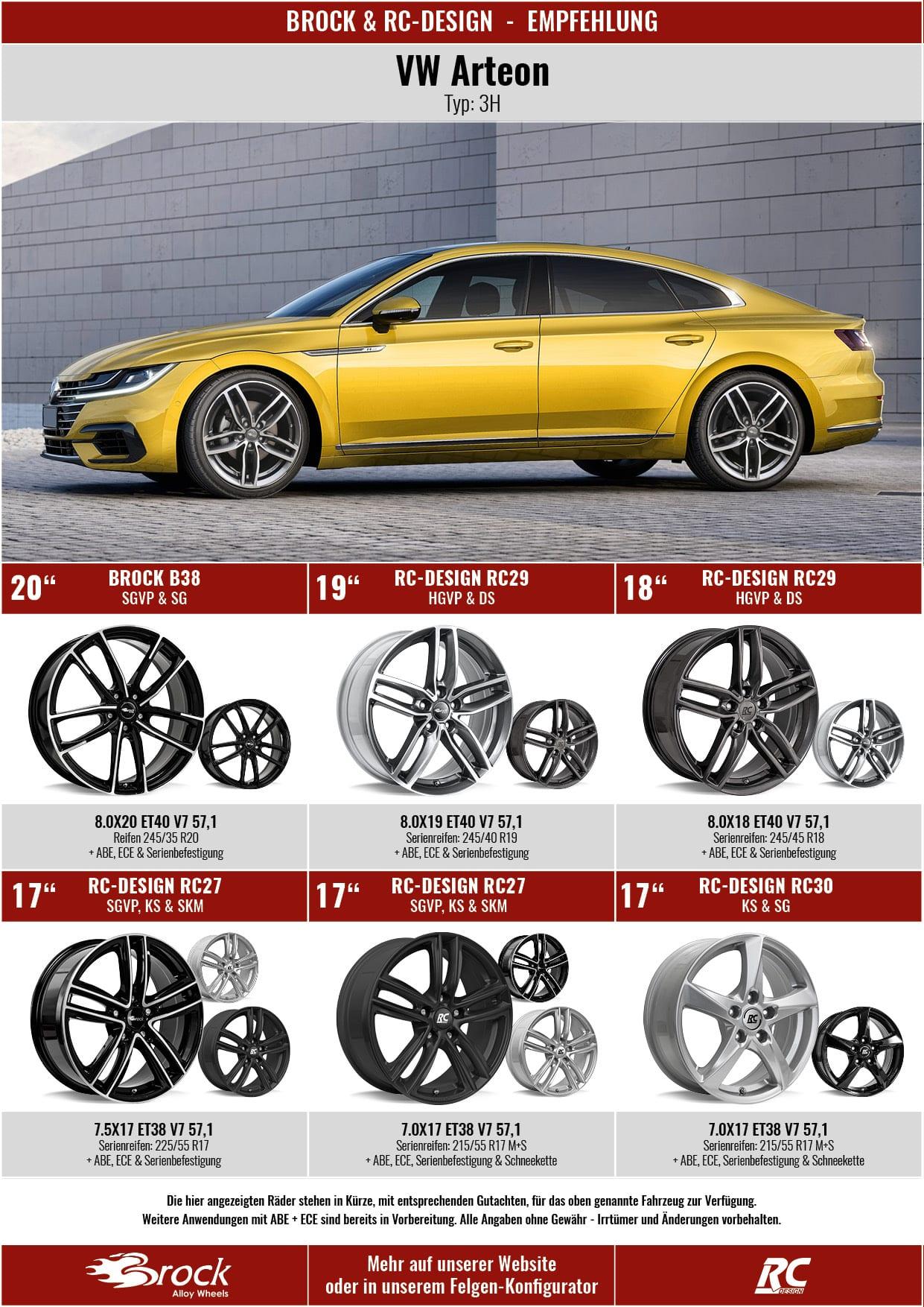 Empfehlung VW Arteon Felgen