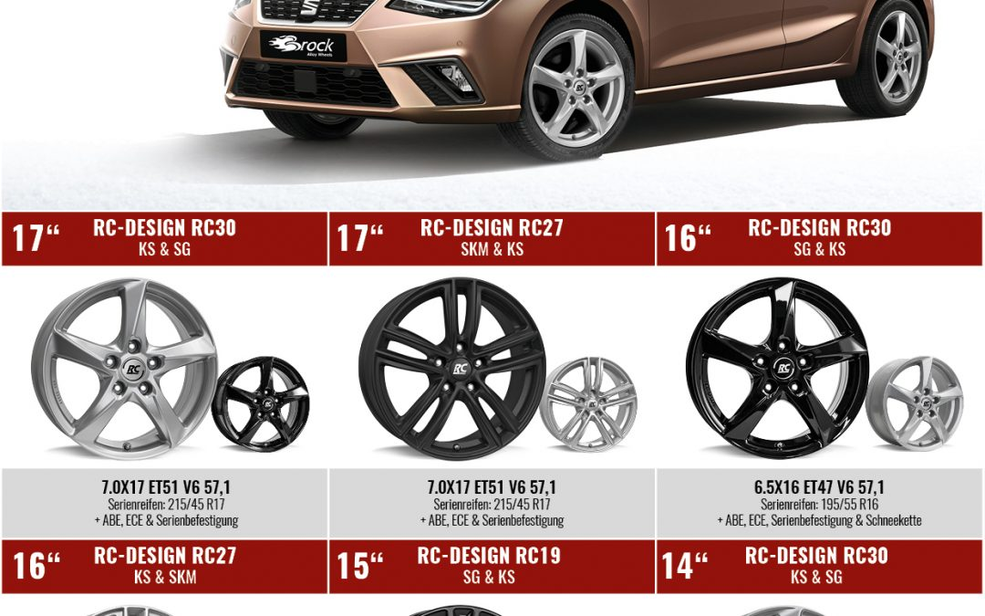 Brock & RC-Design Felgen für neuen Seat Ibiza